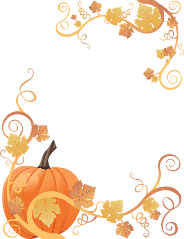 Pumpkin Border Vector Art .-Pumpkin Border vector art .-17