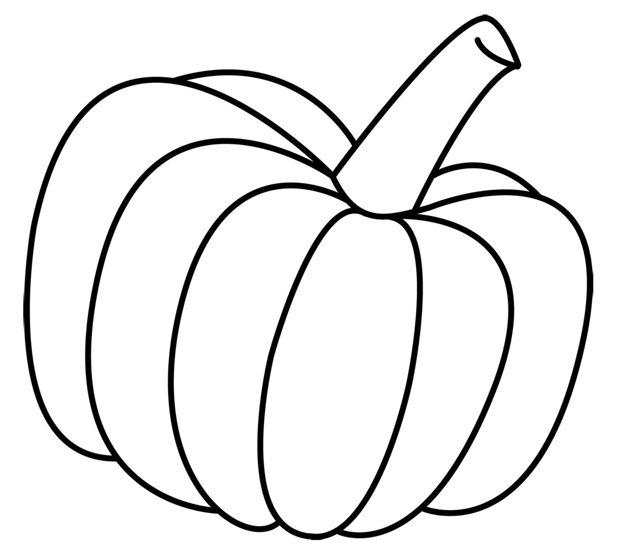 Pumpkin Clip Art Black White  - Clip Art Black And White