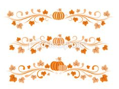pumpkin halloween border .