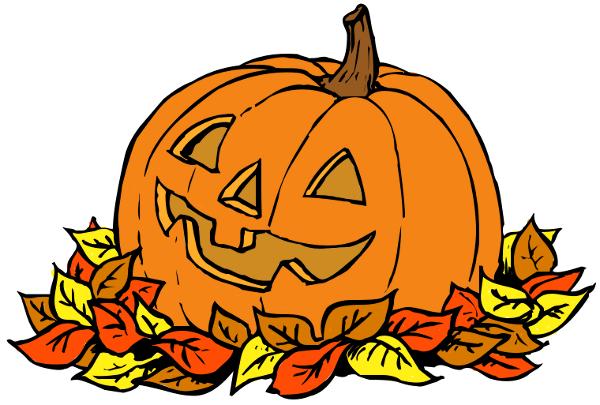Pumpkin Leaf Clip Art Clipart - Clipart Pumpkins