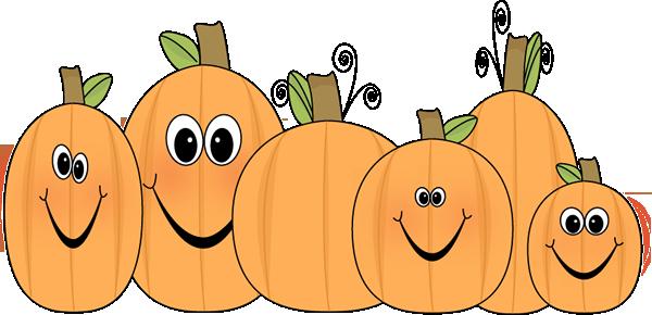 Pumpkin Patch Clip Art Image - patch of -Pumpkin Patch Clip Art Image - patch of pumpkins with funny faces.-0