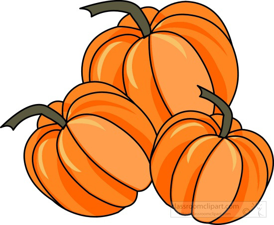 Pumpkins turkey and pumpkin clipart kid