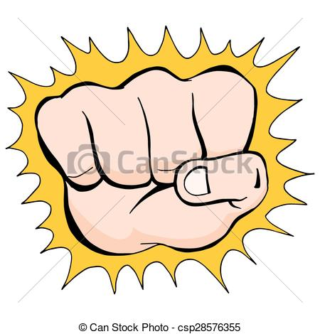 Fist Punch Sketch - csp285763 - Punch Clipart