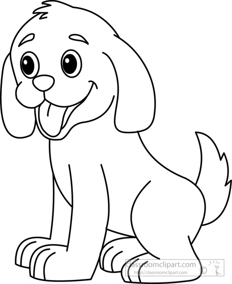 Puppy Clipart Black And White-Puppy Clipart Black And White-1