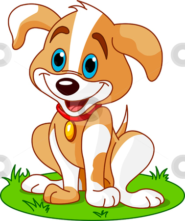 Puppy Illustration Stock Vector Clipart -Puppy Illustration Stock Vector Clipart Cute And Funny Puppy By Anna-15
