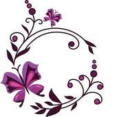 Purple Flower Border Clipart-purple flower border clipart-18