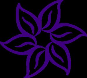 purple flower border clipart