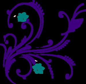 Purple Flower Border Clipart-purple flower border clipart-9