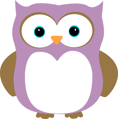 Purple and Brown Owl