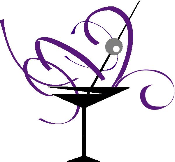 Purple And Gray Martini Glass clip art - vector clip art online