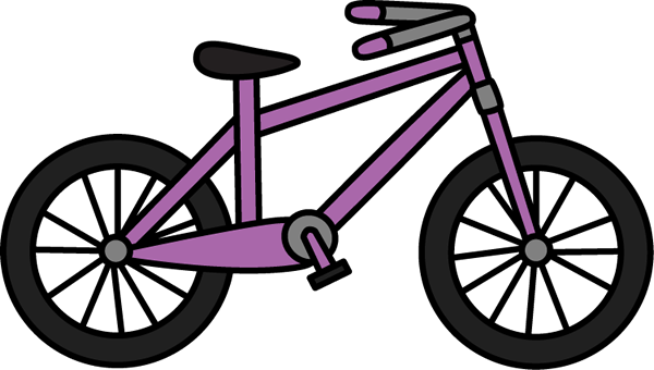 Purple Bicycle - Bike Clip Art