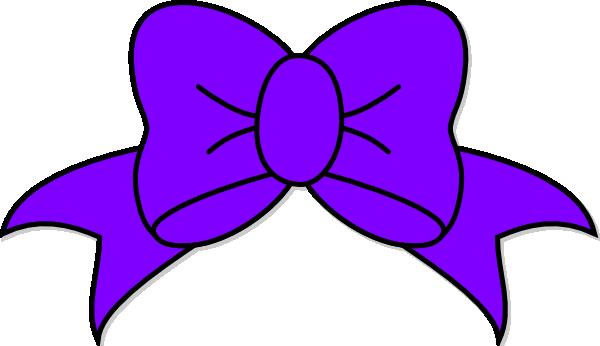 Purple Bow Clip Art At Clker Com Vector Clip Art Online Royalty