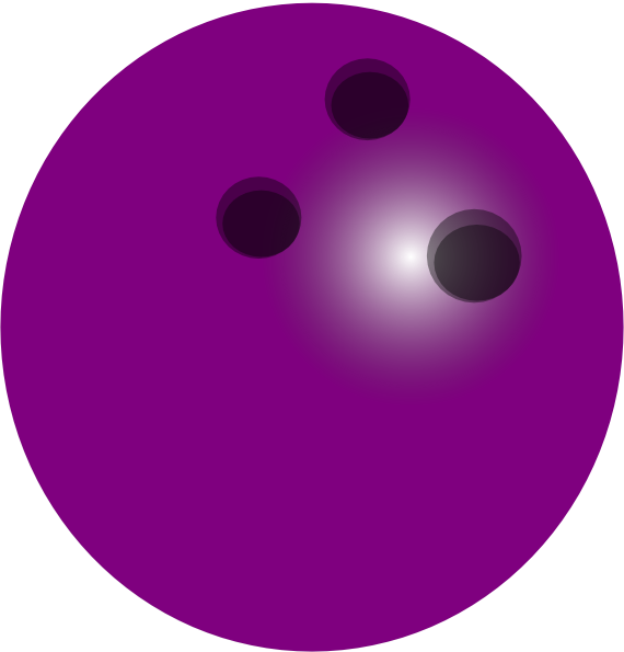 Purple Bowling Ball Clip Art  - Bowling Ball Clipart