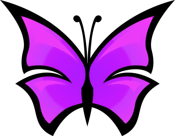Purple Butterfly Clip Art-purple butterfly clip art-15