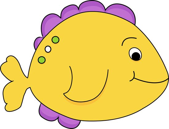 Purple Cartoon Fish | Yellow Fish Clip Art Image - yellow fish with purple fins. | More Clip Art | Pinterest | Purple, Free clipart images and Cartoon