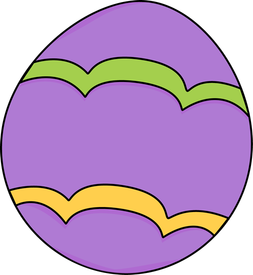Purple Decorated Easter Egg