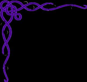 Purple Decorative Border Clipart #1