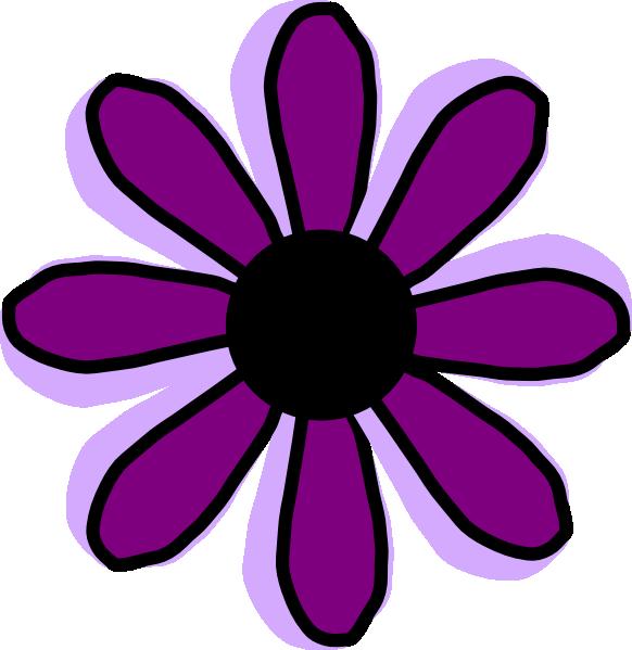 Purple Flower 9 Clip Art At Clker Com Vector Clip Art Online