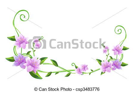 purple flower and green vines .