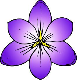 Purple Flower Clip Art Image. Free Crocu-Purple Flower Clip Art Image. Free Crocus Clipart-9