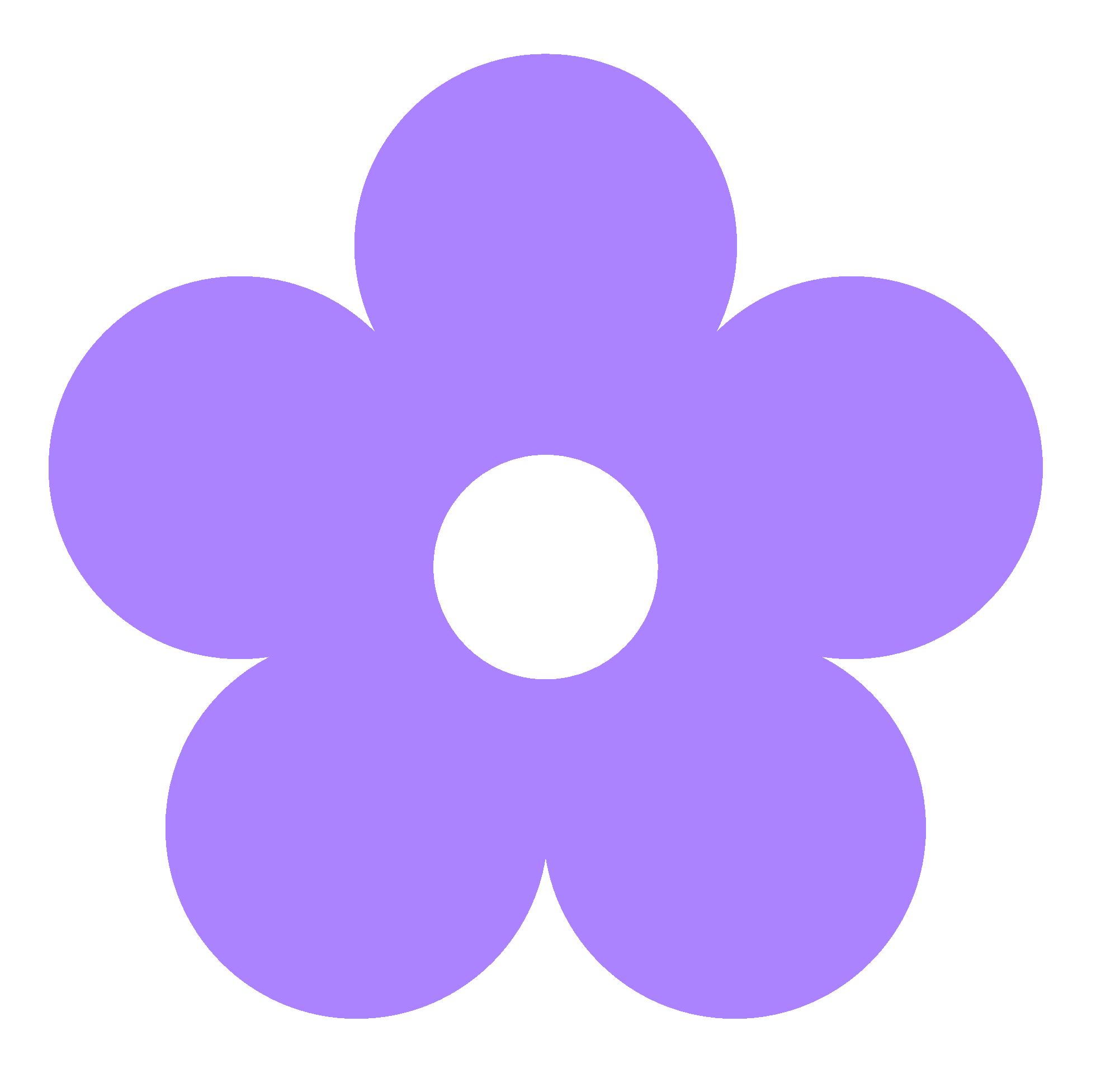 Purple Flower Clip Art. purple flower border% .