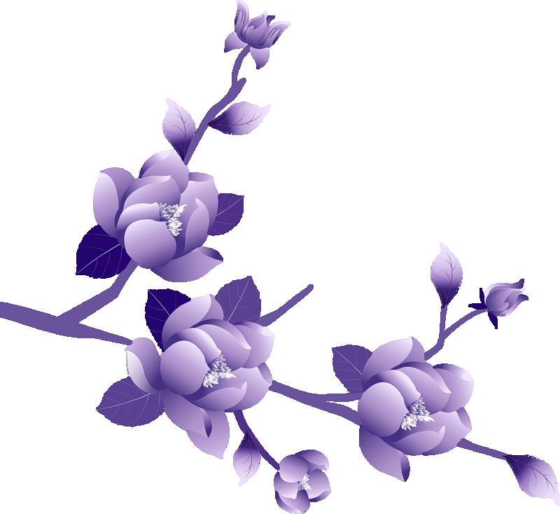 Purple Flower Clipart Cool Eyecatching T-Purple Flower Clipart Cool Eyecatching Tatoos-13