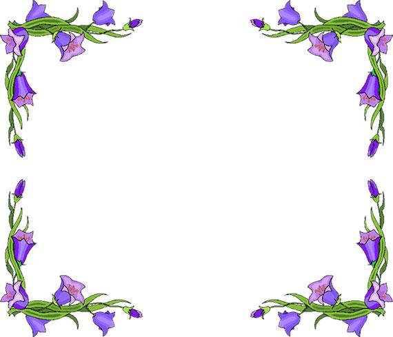 purple flowers border