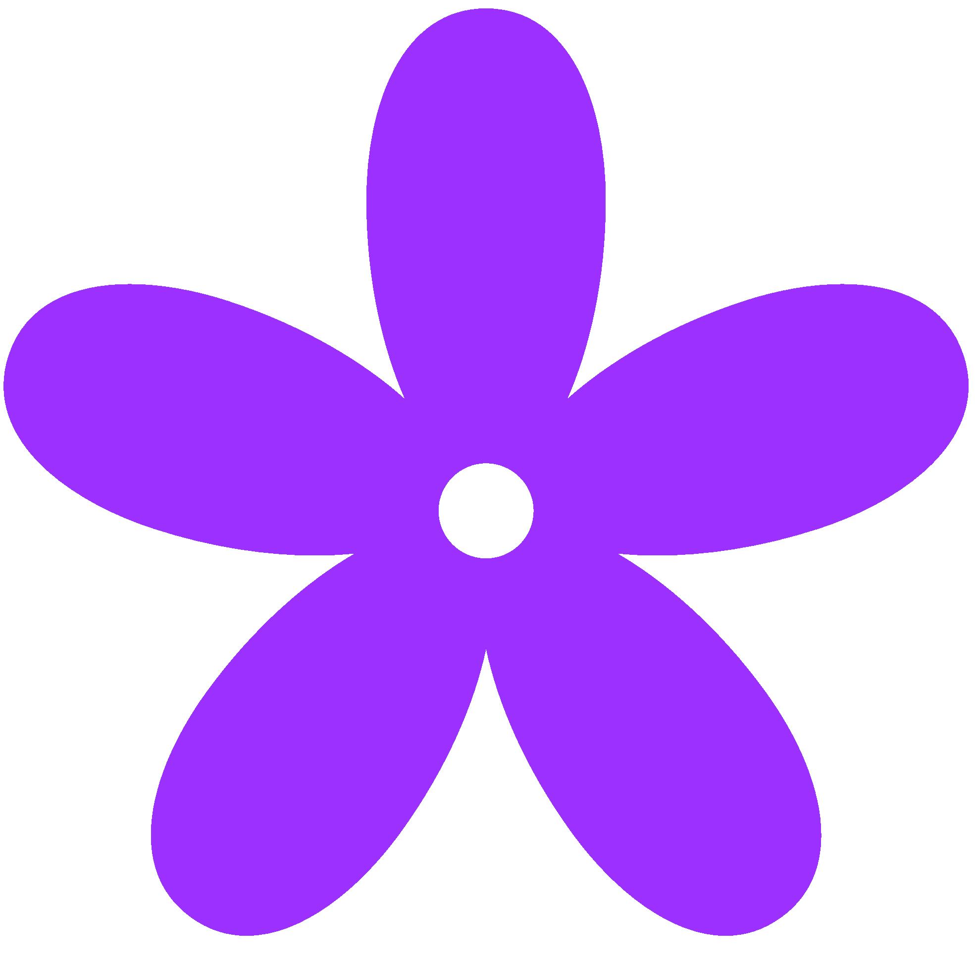 Purple Flowers Clip Art. color purple clipart