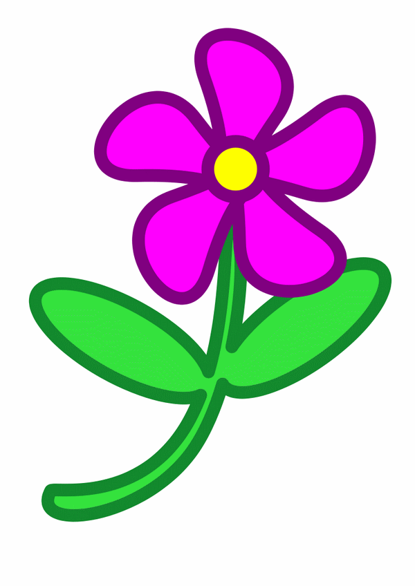 Purple Flowers Clipart