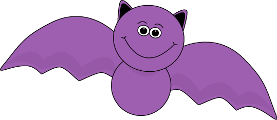 Purple Halloween Bat - Halloween Pictures Clip Art