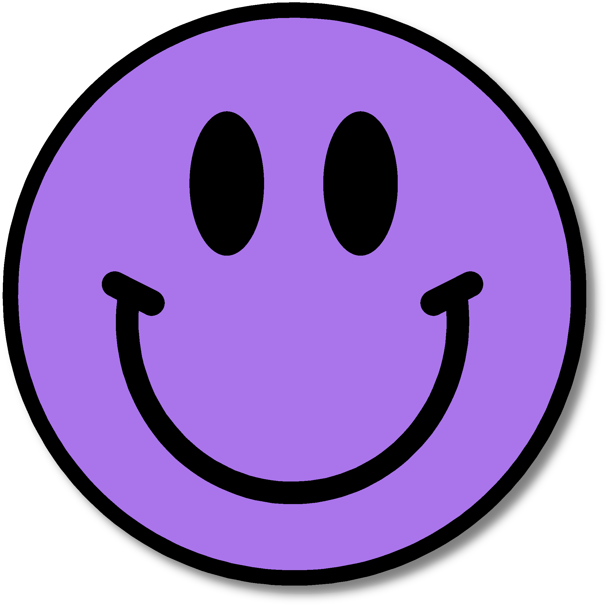 Purple Happy Face Free . - Free Smiley Face Clipart