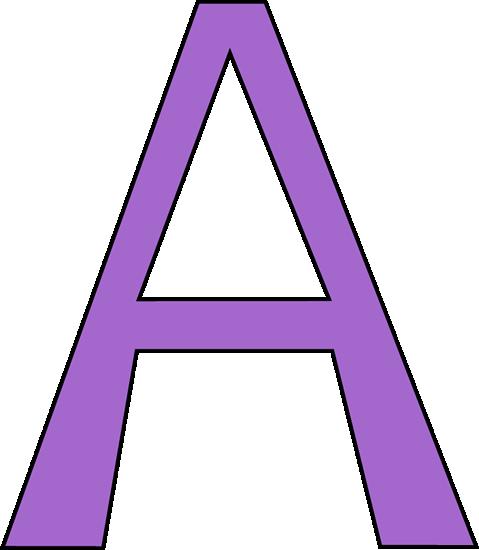 Purple Letter A. Purple Lette - Letter A Clip Art