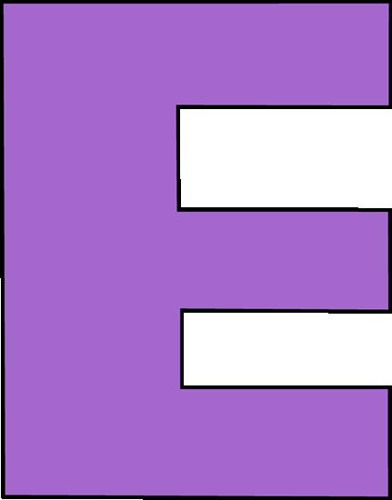Purple Letter E-Purple Letter E-17
