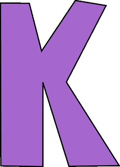 Purple Letter K-Purple Letter K-10