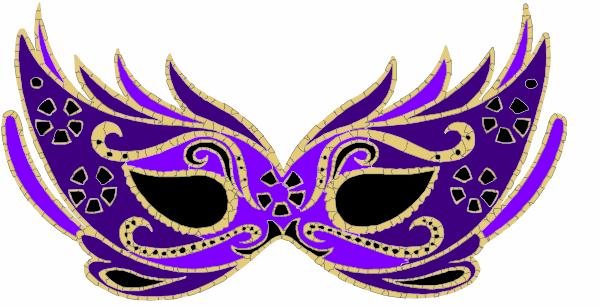 Purple Masquerade Mask Clip Art At Clker Com Vector Clip Art Online