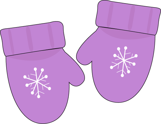 Purple Mittens Clip Art Pair  - Mittens Clip Art