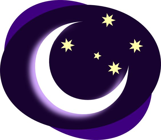 Purple moon purple moon clip art vector