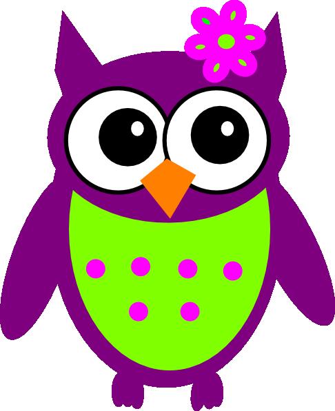 Purple Owl Clipart Clipart .