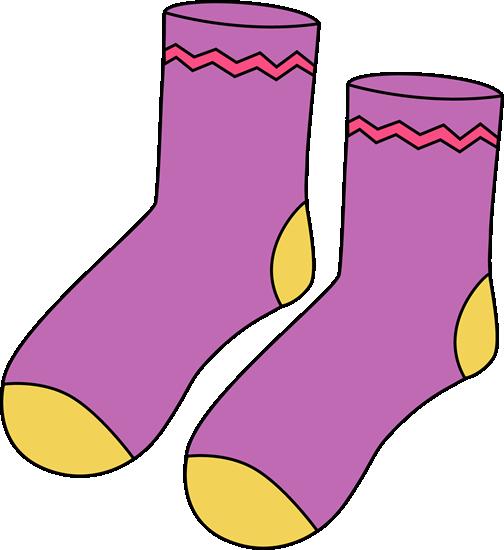 Purple Pair of Socks - Clip Art Socks