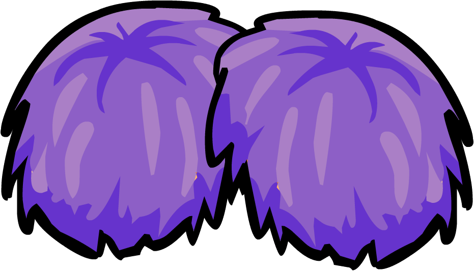 Purple Pom Poms Clipart - Pom Poms Clipart
