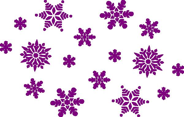 Purple snowflakes clip art at clker vector clip art