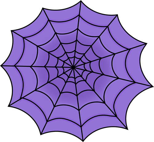Purple Spider Web - Spider Web Clipart