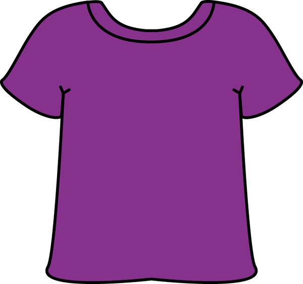 Purple Tshirt - Clip Art T Shirt