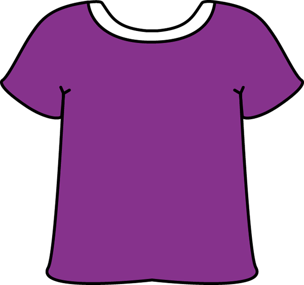 Purple Tshirt With A White Collar-Purple Tshirt with a White Collar-13
