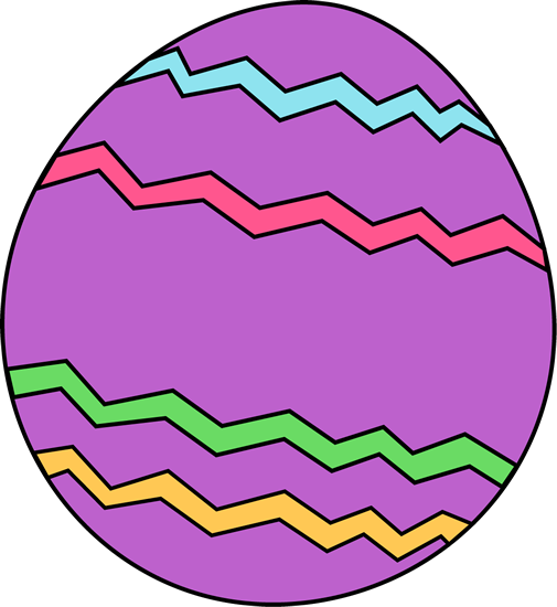Purple Zig Zag Easter Egg - Easter Eggs Clip Art