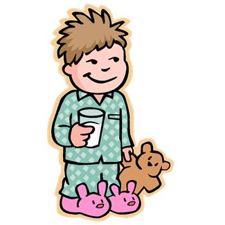 Putting On Pajamas Clipart