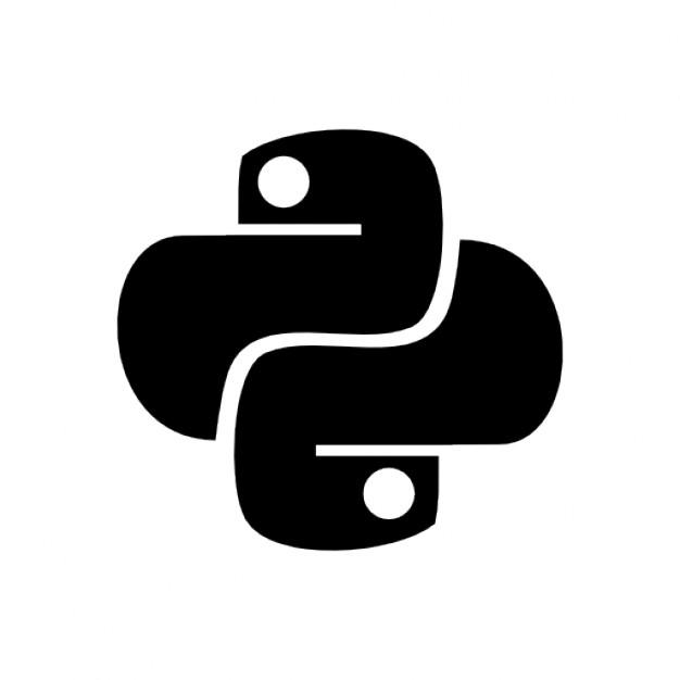 Python icon. This logo has tw