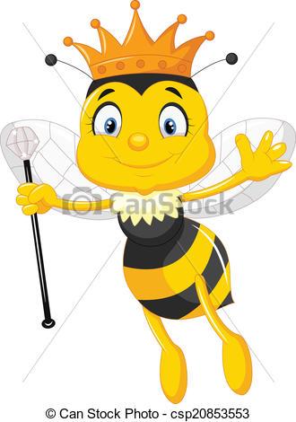 ... Queen bee cartoon - Vector illustration of Queen bee cartoon.