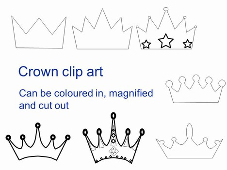 Queen Crown Outline Clipart