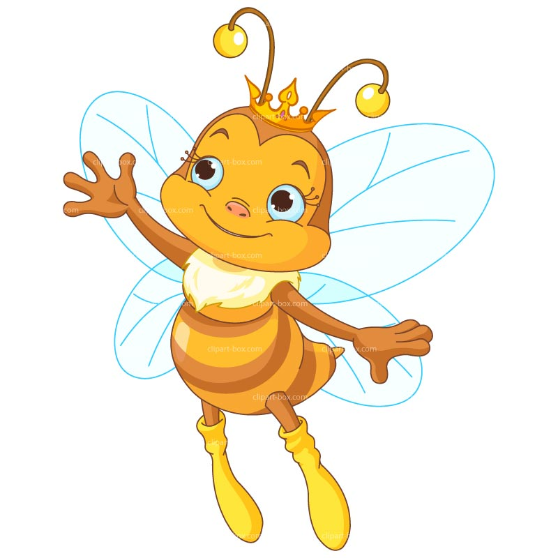 Queen Honey Bee Clipart #1
